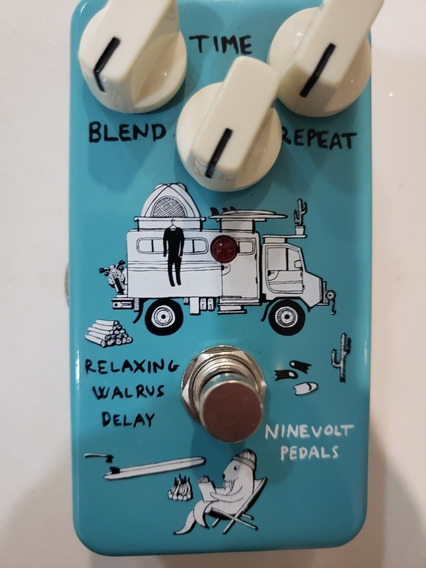 Pedal Delay Relaxing Walrus Ninevolt Pedals, Made In Japan.