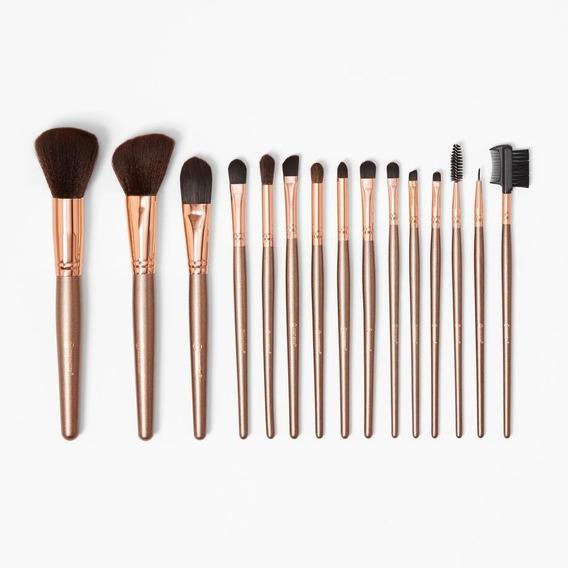 Set De 15 Brochas Rose Gold De Bh Cosmetics 100% Original