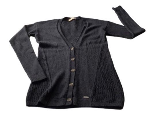 Suéter, Con Botones. Azul Marino. Talla S. Hollister.