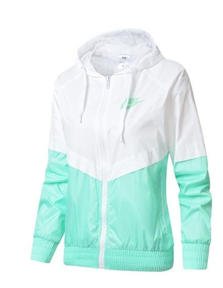 Jaqueta Feminina Corta Vento Nike Verde Claro
