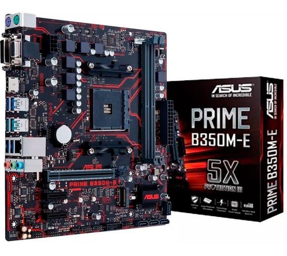 Placa Mae Asus Prime B350m-e Amd Am4 Ddr4 Ryzen B350