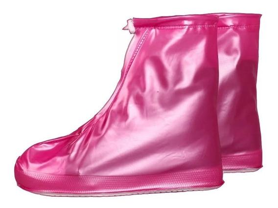 Botas Cubre Zapatos Para Lluvia Impermeable Con Cierre