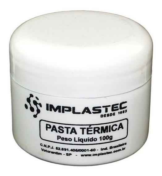Pasta Térmica 50g Implastec Pote Cpu Dissipador Igbt