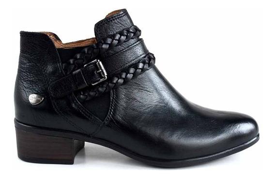 Botineta Mujer Cuero Cavatini Bota Zapato Taco - Mcbo24918