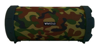Parlante Vivitar Fabric Collection Bluetooth Tube Speaker portátil inalámbrico Camuflado