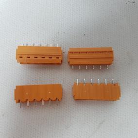 Kit 5 Conector Encaixe Sl 5.08/06/180b 300v 10a