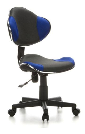 Cadeira De Escritório Secretaria Azul Pelegrin Pel-s653