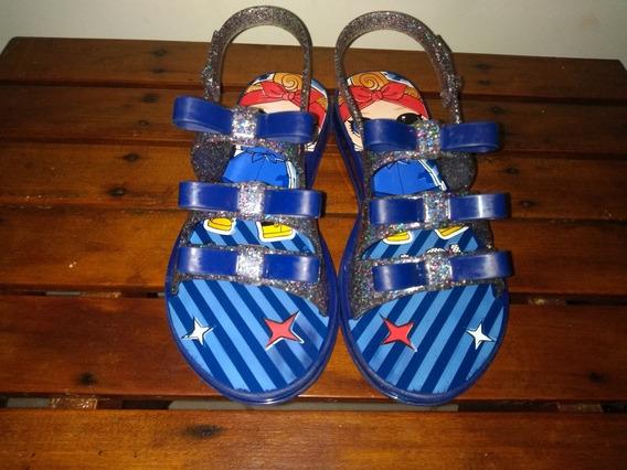 Sandália Infantil Azul Com Brilho Lol Surprise! Grendene