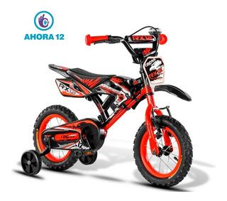 Bicicleta Aurora Cross Rodado 12 Infantil Niños