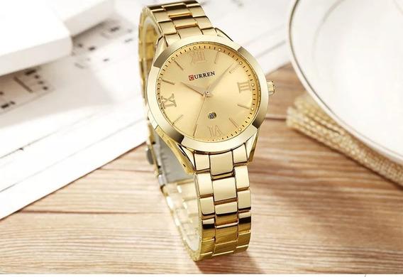 Relógio Curren Modelo Feminino Cor Dourada Black Friday