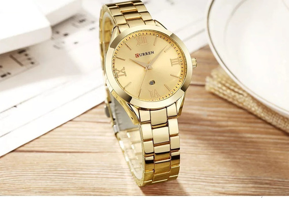 Kit 3 Relógios Curren Modelo Feminino + Kit Pulseira Brinde