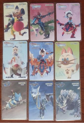 Tarjetas Amiibo Monster Hunter Set 9 Unidades.