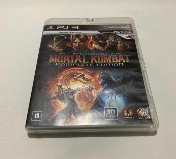 Mortal Kombat 9 Ps3 Playstation 3 Komplete Edition Mídia
