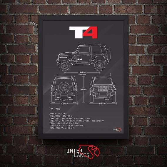 Quadro Troller T4 2015 - Poster Carro Interlakes