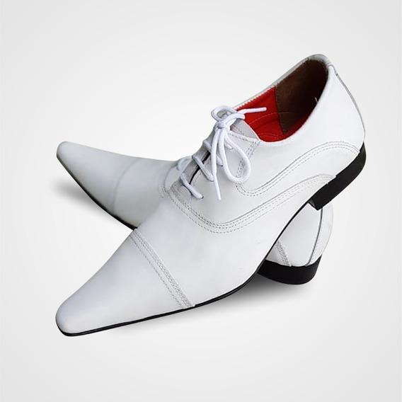Sapato Social Couro Branco - Style Collection