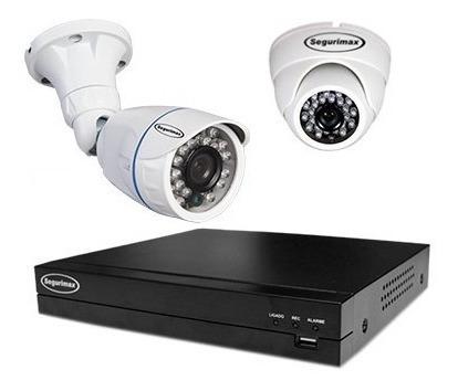 Kit De Segurança Cftv 4 Canais 4 Câmera Segurimax