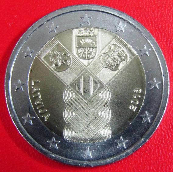 Lituania Moneda 2 Euros 2018 Unc 100 Aniv Estados Balticos