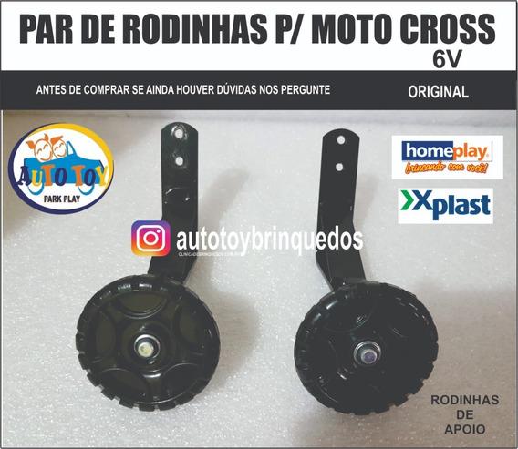 Moto Cross 6v Homeplay - Par De Rodinhas Traseiras De Apoio