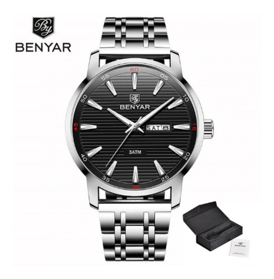 Relógio Benyar Lindo Top Esporte Social Luxo Original