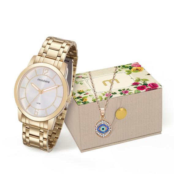 Kit Relógio Mondaine Feminino 99126lpmvde1k1