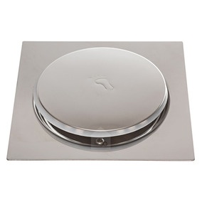 Ralo Inteligente Click Banheiro 15x15 Cm Inox Veda Cheiro