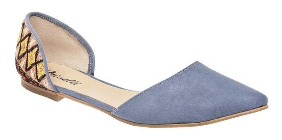 Zapato De Piso Crivelli 66-8940 Azul Dama 23-25 Q1