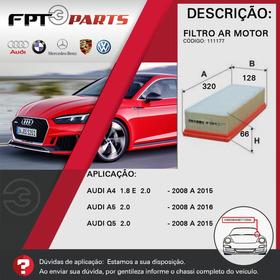 Filtro De Ar Motor Audi Q5 2008 A 2015 - 2.0