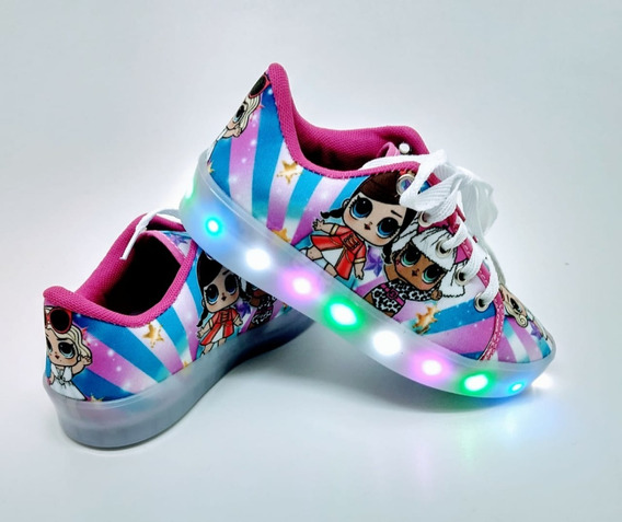 Tênis Bota De Led Infantil Personagens Original Luz!
