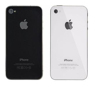 Tapa Trasera iPhone 4s Negro / Blanco Vidrio