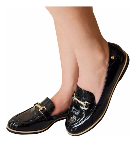 Sapato Feminino Mocassim Verniz