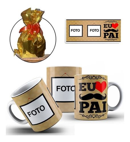 Imagem 1 de 4 de Caneca Personalizada Dia Dos Pais + Caixinha + Embalagem