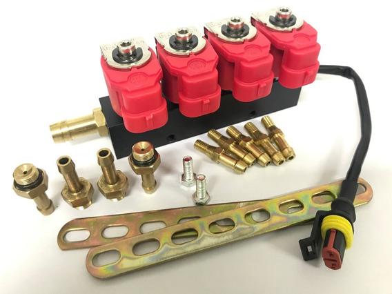 Flauta Bico Injetor Gnv Valtek 5ª Geração Sensor Temperatura