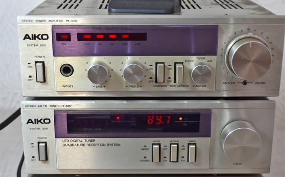 System Aiko 3000 Amplificador E Tuner Funcionando Veja Vídeo