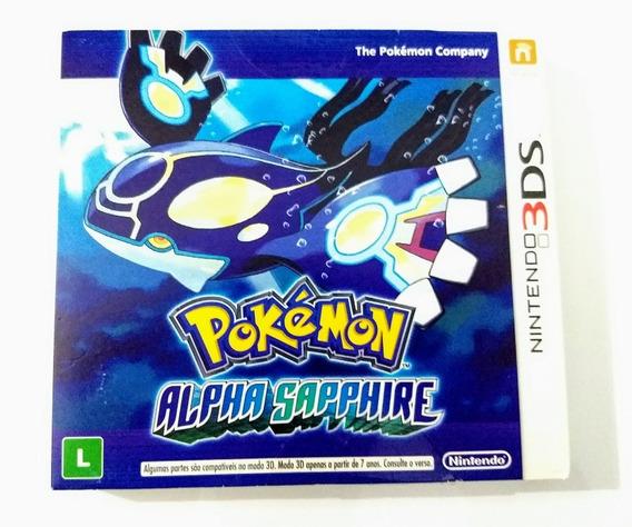 Pokemon Alpha Sapphire - 3ds - Com Luva - Usado Impecável !!