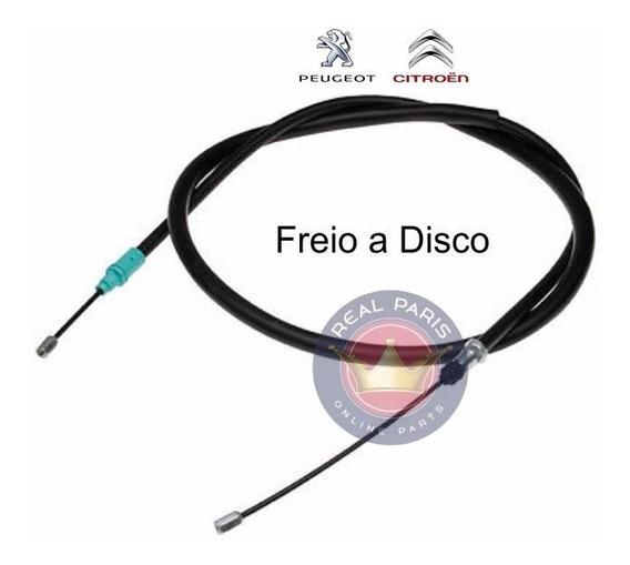 Cabo Freio Mão Peugeot 206 207 Com Freio A Disco Esq / Dir
