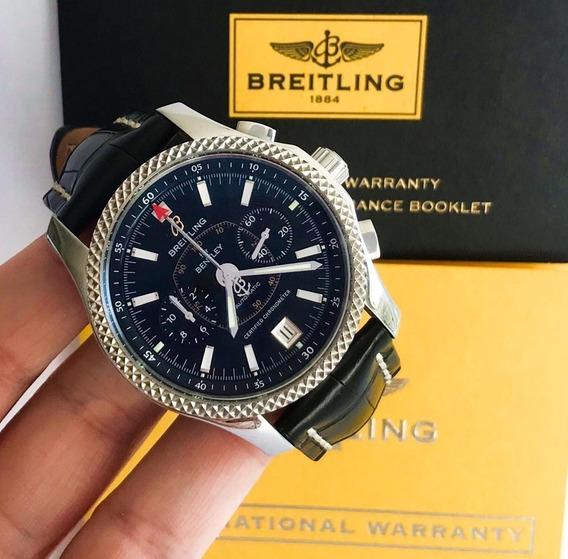 Breitling Bentley Mark Vi Platina & Aço 2014 Edição Especial