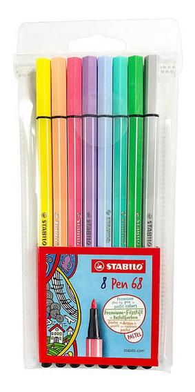 Marcadores Punta Fina Stabilo Pen 68 Colores Pasteles