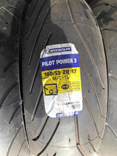Imagem 1 de 1 de Pneu 180/55=17 Michelin Pilot Power 3