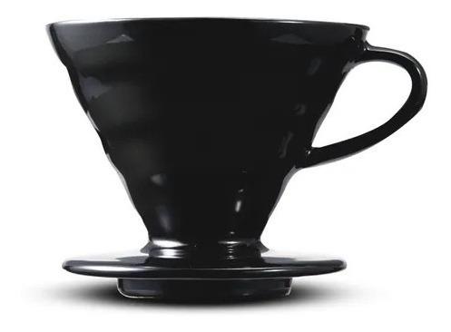 Imagem 1 de 5 de Cafeteira V60 Hario Black Kasuya Cerâmica 02