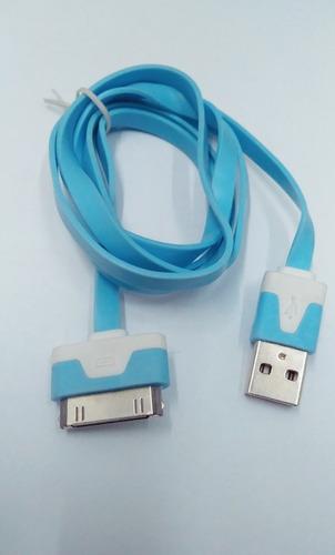 Imagen 1 de 1 de Cable Plano Para Cargador iPhone Azul Cie Bc-2058bls Fussion