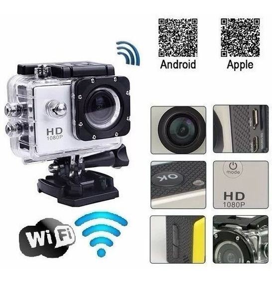 Câmera Go Full Hd Wifi Filmadora Pro Bike Carro Prova D