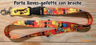 Lanyard / Cordón Porta Llaves Temática Bart Simpsons