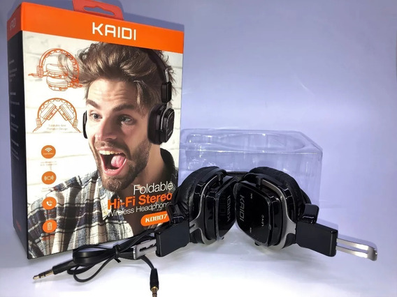 Fone De Ouvido Dobrável Bluetooth Estéreo Kaidi Kd807