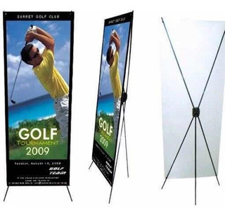 Porta Banner Araña Display Medida 80 X 1.80 Mts Ajustable