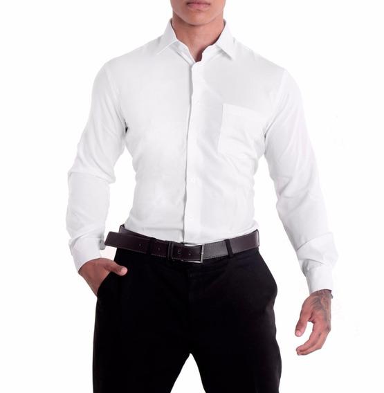 Camisa Social Masculina Manga Longa - 100% Microfibra