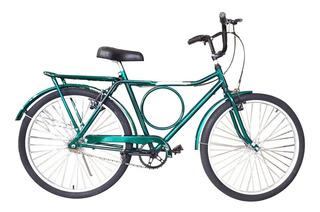 Bicicleta 26 Barra Forte Circular Compl Verde Pronta Entrega