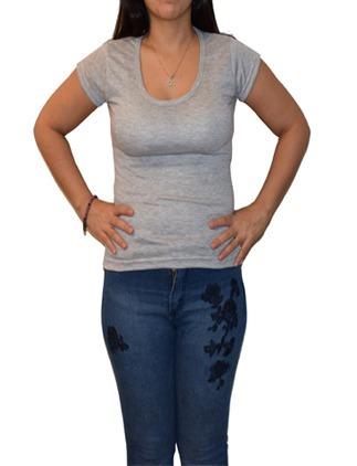Remera Dama Cuello Bote - Spun - Poliester - Sublimación