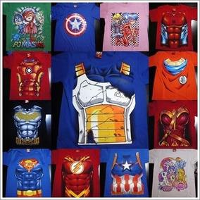 Lote De Camisetas Batman Ironman Capitán América Flash