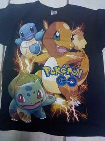 Playera Pokemon Go Negra Talla Grande 2 Estampados