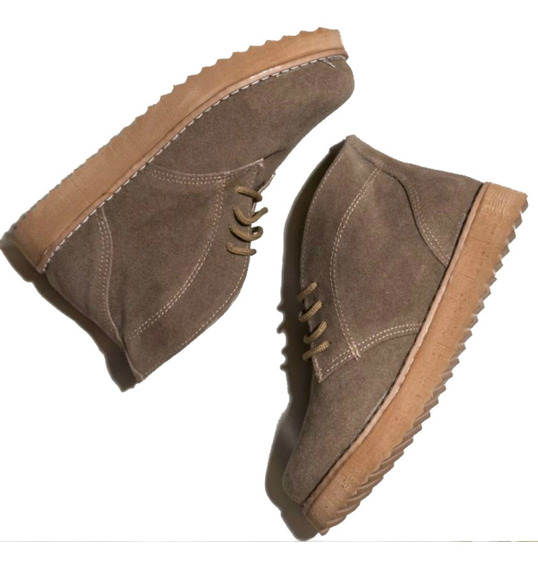 Zapatos Botitas Gamuza Colegio Unisex Niños Niñas Chavitos